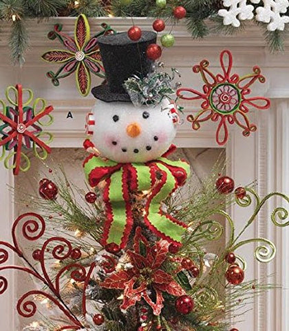 RAZ Imports Snowman Head Tree Topper 3216196