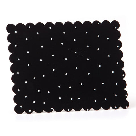 Embellish Your Story Black w/White Dots Magnetic Memo Board - Embellish Your Story Roeda 14269-EMB