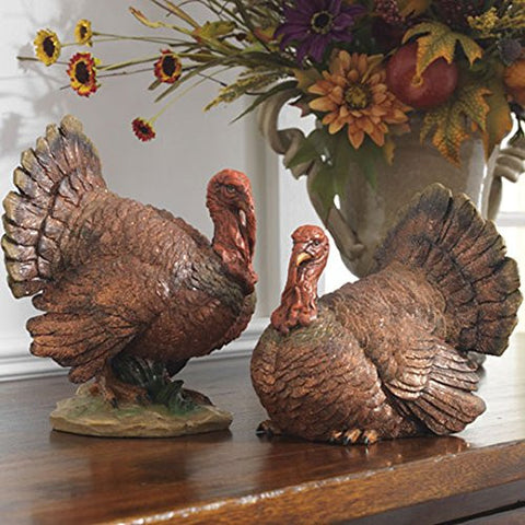 "RAZ Imports - Thanksgiving - 10"" Turkeys - Set of 2"
