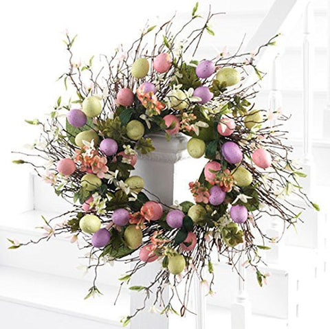 "Easter Wreath - Easter Egg Wreath - 22"" Wreath"