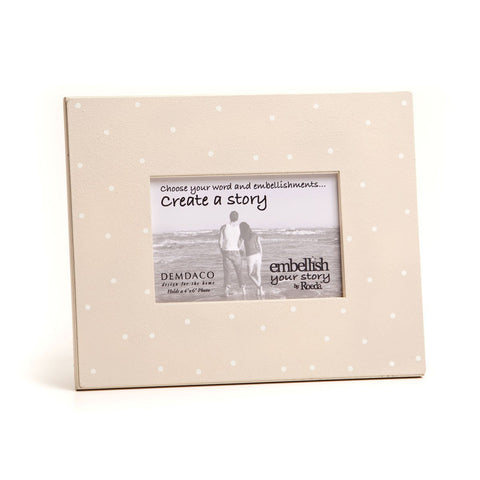 Embellish Your Story Cream w/White Dots Magnetic Frame - Embellish Your Story Roeda 14296-EMB