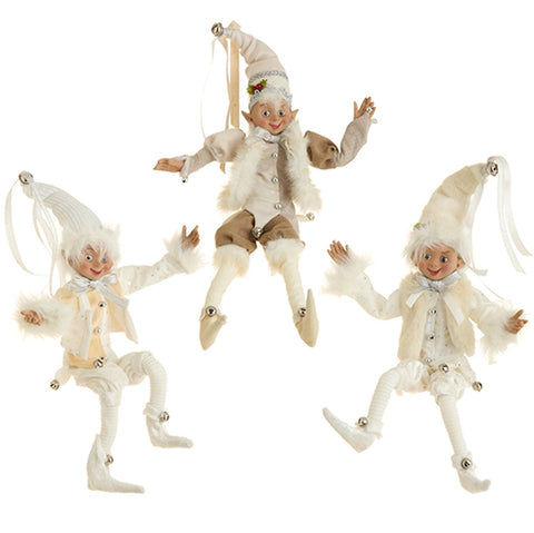 "RAZ Imports - 16"" Posable Elf Ornament (Set of 3)"