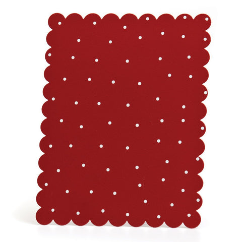 Embellish Your Story Red w/White Dots Magnetic Memo Board Rectangle - Embellish Your Story Roeda 14273-EMB