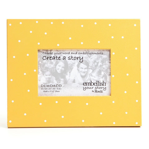 Embellish Your Story Yellow w/White Dots Magnetic Frame - Embellish Your Story Roeda 14306-EMB