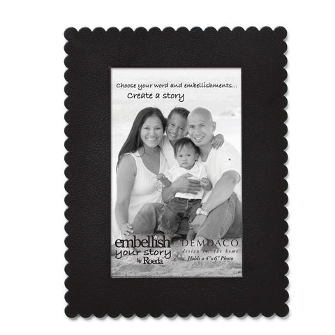 "Embellish Your Story Black Frame Magnet - 4"" x 6"" - Embellish Your Story Roeda 101696-EMB"