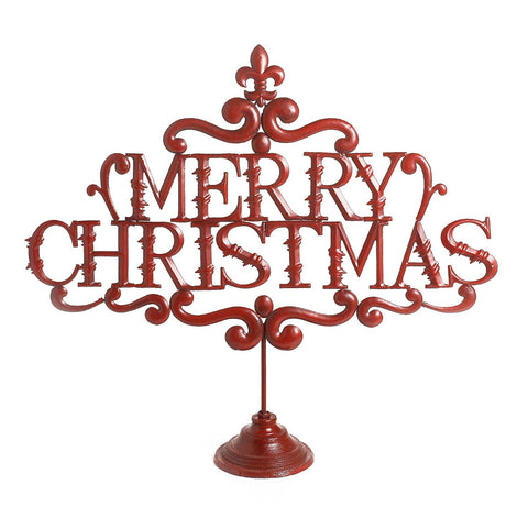 "Raz Imports 26"" ""Merry Christmas"" on Stand"