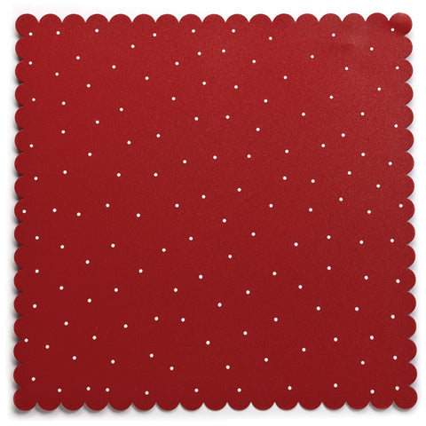 "DEMDACO Embellish Your Story Red with White Dots 16""Sq Magnetic Memo Board"