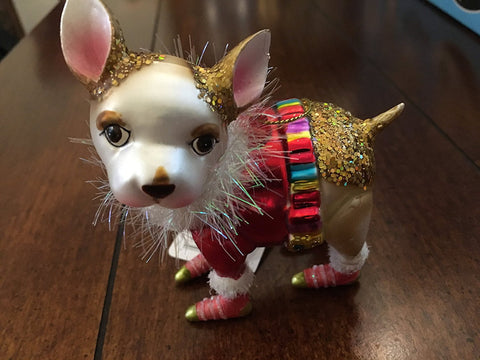 RAZ Imports - Multicolored Glass Dog Ornaments - D