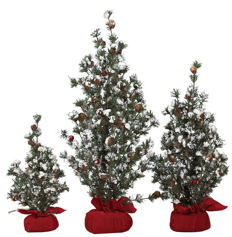 Transpac Medium Tree In Gift Bag with Berries