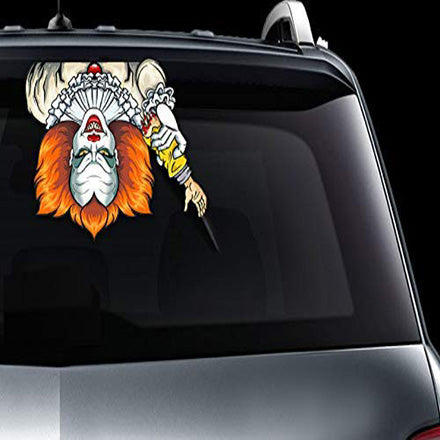 Klbjames-Halloween car rear window wiper sticker