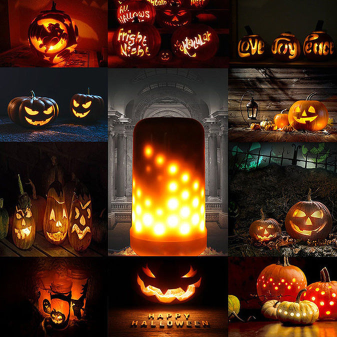 Klbjames-LED Flame Effect Light Bulb-【Halloween & Christmas essentials】