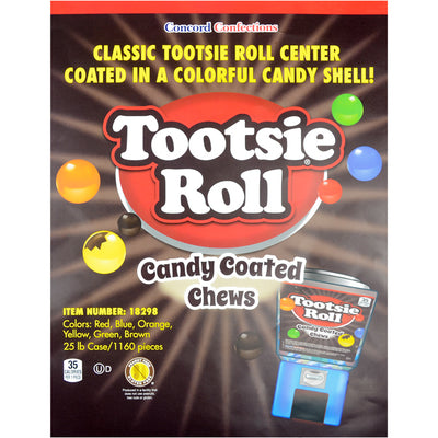 Tootsie Roll Candy-Coated Chews Bulk (1160 pcs) - Wholesale Vending Products
