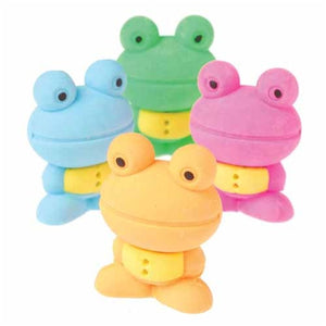 6 Japanese Style Frog Erasers - Wholesale Vending Products