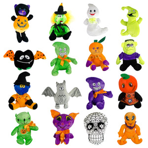 Generic Halloween Plush Kit 6in-9in (144 pcs) - Wholesale Vending Products