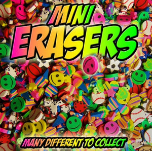 "250 Mixed Erasers In 1"" Capsules - Wholesale Vending Products"