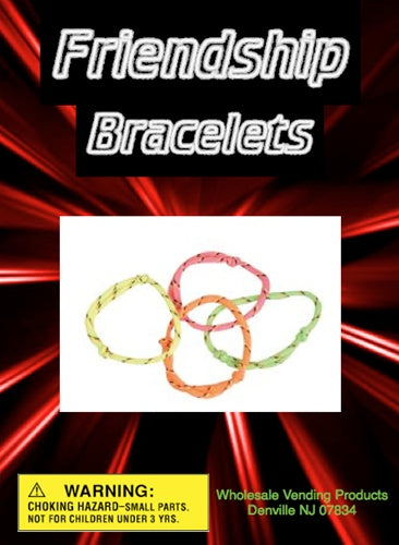 "250 Friendship Bracelets In 1"" Capsules - Wholesale Vending Products"