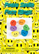 "250 Foam Smile Face Rings 1"" - Wholesale Vending Products"