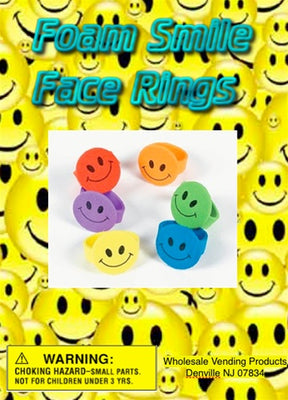 250 Foam Smile Face Rings 1