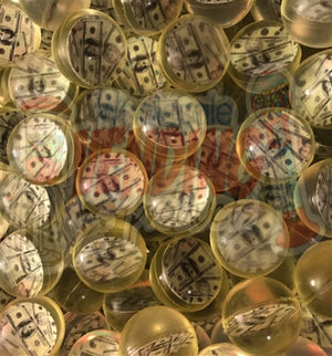 "(144) Hundred Dollar Bill Money Bouncy Balls 1"" - Wholesale Vending Products"