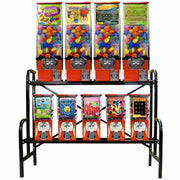 "45"" Bulk Vending Rack Setup Includes 4 Large & 5 Small Vendors - Wholesale Vending Products"