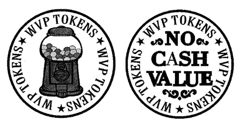 "(500) .984"" Vending Tokens - Ships Free - Wholesale Vending Products"