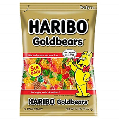 Haribo Gummi Candy, Goldbears Gummi Candy, 5 Pound Bag (Ships Free) - Wholesale Vending Products