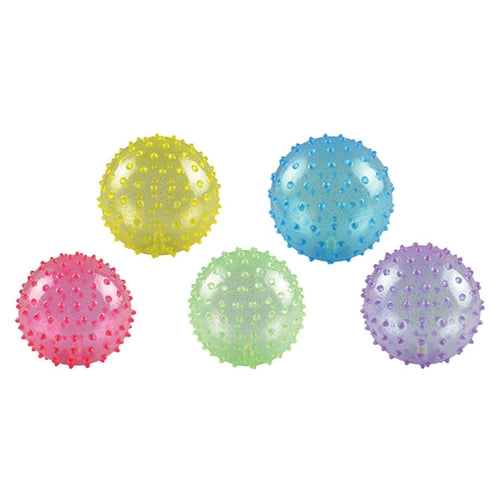 Inflatable Glitter Knobby Balls - 5'' - Wholesale Vending Products