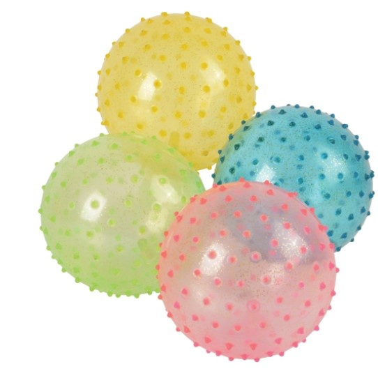 "12 - 5"" Glitter Knobby Balls - Wholesale Vending Products"