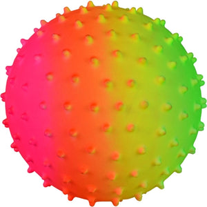 Inflatable Rainbow Knobby Balls - 5'' - Wholesale Vending Products