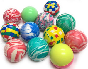 "12 60mm Bouncy Ball Assortment (2.35"") - Wholesale Vending Products"