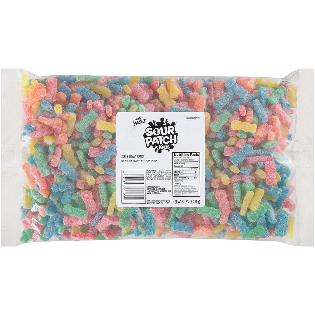 SOUR PATCH KIDS Soft & Chewy Candy, 5 lb (Ships Free!) - Wholesale Vending Products
