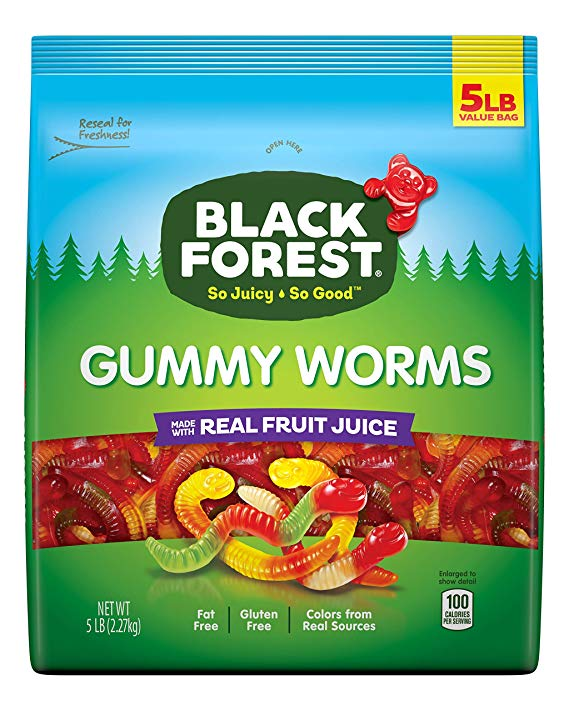 Black Forest Gummy Worms Candy, 5 Pound (Ships Free!) - Wholesale Vending Products