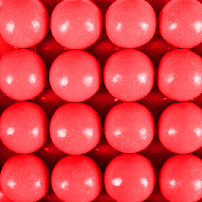 "900 Count Zed Wild Cherry Gumballs 1"" - Wholesale Vending Products"