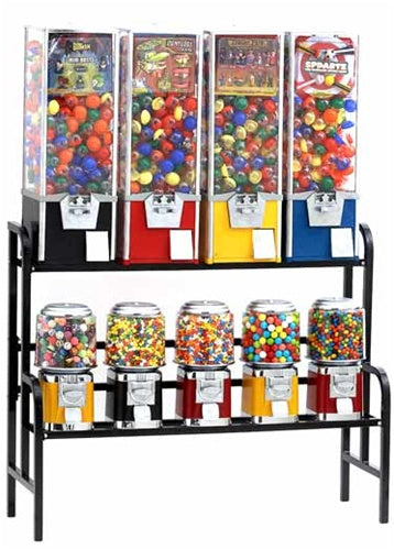 9 Rack Setup Bulk Vending Machines - Ships Free! - Wholesale Vending Products