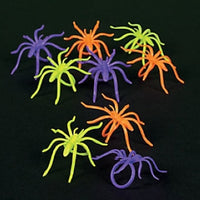 144 Assorted Color Spider Rings - Wholesale Vending Products
