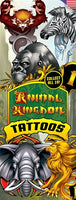 300 Animal Kingdom Temporary Tattoos In Folders - FREE DISPLAY! - Wholesale Vending Products