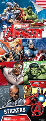 300 Marvel Avengers Stickers In Folders - FREE DISPLAY!