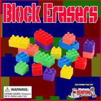 "250 Buildable Block Erasers - 2"" - Wholesale Vending Products"