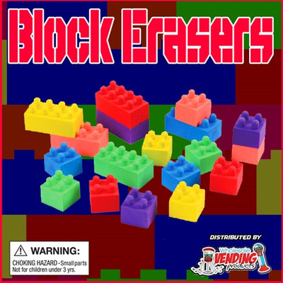 250 Buildable Block Erasers - 2