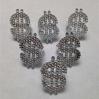 144 Bling Dollar Sign Rings - Wholesale Vending Products