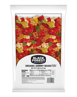 Black Forest Organic Gummy Bears Candy - 5lb Bag (Ships Free!) - Wholesale Vending Products
