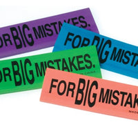 12 Big Mistake Erasers - Wholesale Vending Products