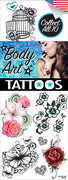 300 Body Art Temporary Tattoos In Folders - FREE DISPLAY! - Wholesale Vending Products