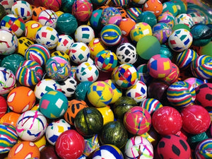 "100 Premium Quality 27mm 1"" Super Bounce Bouncy Balls - Wholesale Vending Products"