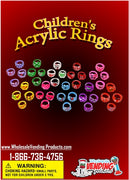 "250 Children's Acrylic Rings - 1"" - Wholesale Vending Products"