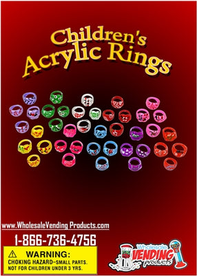 250 Children's Acrylic Rings - 1