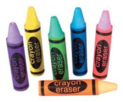 12 Crayon Erasers - Wholesale Vending Products