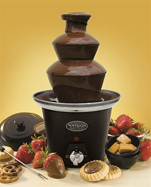 Mini Black Chocolate Fondue Fountain