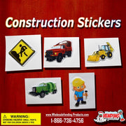 "250 Construction Puffy Stickers - 2"" - Wholesale Vending Products"