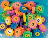 48 Daisy Erasers - Wholesale Vending Products